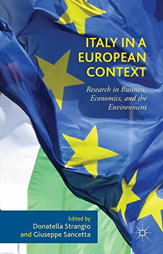 Italy in a European Context: Research in Business, Economics, and the Environment