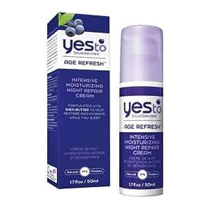 Yes To Blueberries Crème de Nuit Hydratation Intense et Réparatrice 50 ml