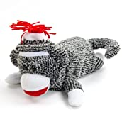 Sock Monkey Roll Over Toy
