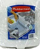 Rubbermaid Home 1297-AR-WHT Twin Sink Divider Mat
