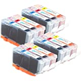 4 Compatible C/M/Y Sets of 3 Canon CLI-526 Colour Printer Ink Cartridges (12 Inks) - Cyan / Magenta / Yellow for Canon Pixma iP4850, iP4950, iX6550, MG5150, MG5250, MG5320, MG5350, MG6150, MG6220, MG6250, MG8150, MG8170, MG8220, MG8250, MX885