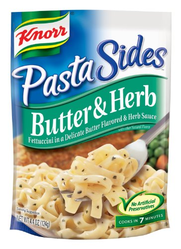 Knorr/Lipton Pasta Sides, Butter & Herb, 4.4-Ounce Packages (Pack Of 12)