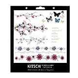Kitsch Flower Metallic Tattoos, Silver, 0.019 Ounce by Kitsch