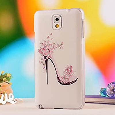 coromose 2015 High-heeled Shoes Flower Case For Samsung Galaxy Note 3 N9000 Accessory