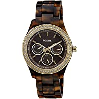 Fossil Stella Chronograph Brown Dial Women's Watch - ES2795