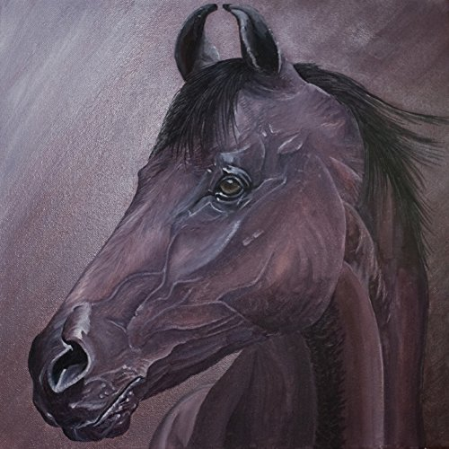 Animal Painting Canvas For Home Decoration,Horses Print On Canvas Wall Art 35X29In Unframed