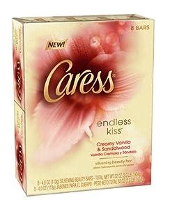 Caress Beauty Bar Soap, Endless Kiss, 4 Ounce, 8 Bars