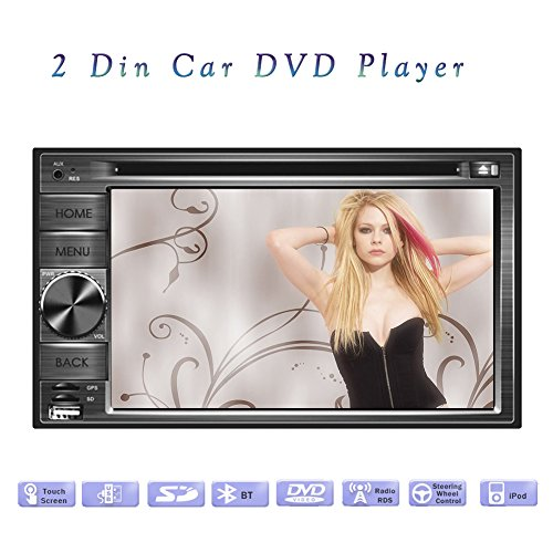 Stereo Elettronica musica MP3 Headunit Autoradio CD Lettore DVD Car Auto Parts Radio Automotive 2 din in dash Multimedia Deck Auto Video 6.2inch Sub AMP Telecomando logo RDS
