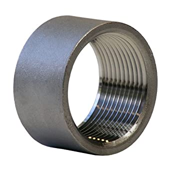 Stainless Steel 304 Cast Pipe Fitting, Half Coupling, Class 150, NPT Female