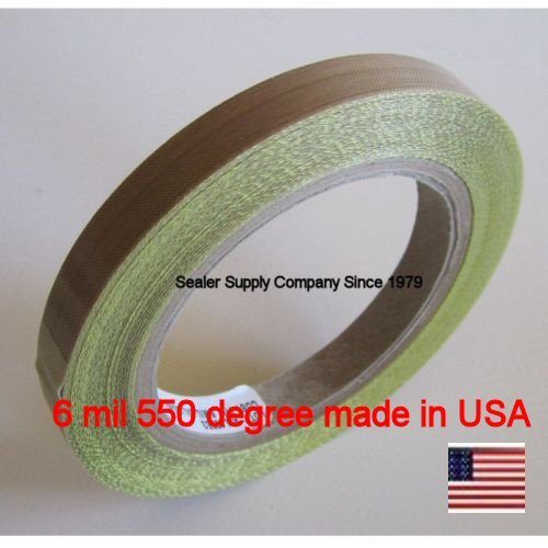 PTFE-ONE-Roll-12-x-10-Yards-x-6-Mil-Silicone-550-degree-Adhesive-Roll-Cloth-release-surface-on-heat-sealers
