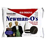 Newman's Own Organics Newman O's,  (Original) Creme Filled Chocolate Cookies, 16-Ounce Packages (Pack of 12)