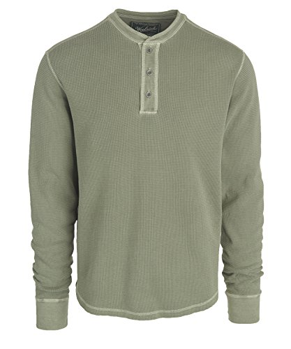 Woolrich Men's First Forks Thermal Henley Shirt, Field Gray, Large (Men Thermal Henley compare prices)