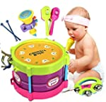 Baby Two-side Drum Musical Instrument...