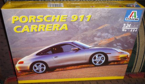#684 Italeri Porsche 911 Carrera 1/24 Scale Plastic Model Kit,Needs Assembly