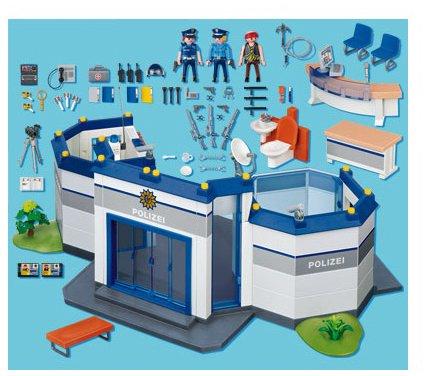 Jeux de construction playmobil 4264 jeu de - Caserne de police playmobil ...
