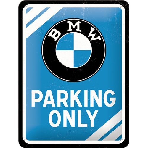 nostalgic-art-26177-bmw-parking-only-blau