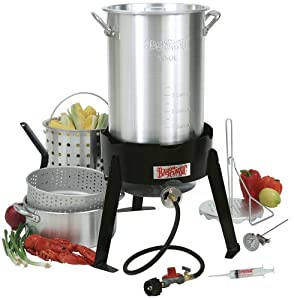 Bayou Classic 3016 30-Quart Outdoor Turkey Fryer with Basket and Fry Pot (Discontinued by... by Bayou Classic