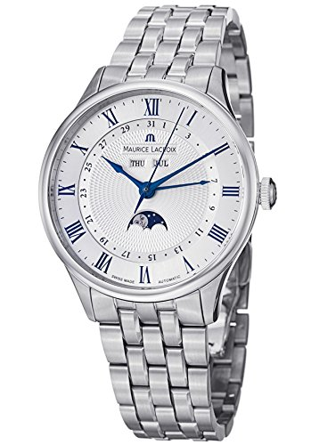Maurice Lacroix Masterpiece Men'S Moonphase Automatic Watch Mp6607-Ss002-110