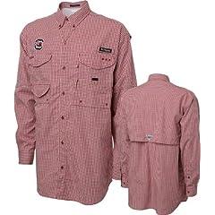 South Carolina Gamecocks Dark Red White Columbia Super Bonehead Long Sleeve Shirt