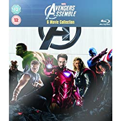 Marvel Avengers Assemble - 6 Movie Collection: Iron Man 1 & 2, Incredible Hulk, Thor, Captain America & Avengers Assemble [Blu-Ray]