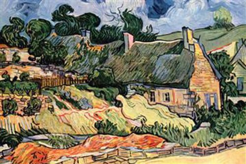 Walls 360 Peel & Stick Wall Decals: Shelters in Cordeville by Vincent Van Gogh (36 in x 24 in)