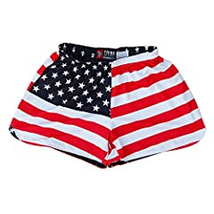 Women's American Flag & Eagle Reversible Lacrosse Shorts