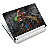 Guang Retro Handgun Pattern Laptop Notebook Cover Protective Skin Sticker For 10