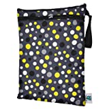 Planet Wise Wet/Dry Diaper Bag, Bumble Dot