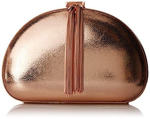 Ted Baker Hartly Tassel Glitter Crossbody Clutch Evening Bag, Rose Gold, One Size
