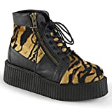 """Pleaser mens 2"""" PF Lace-Up Creeper Bootie"""