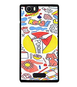 PrintVisa Back Cover for Micromax Canvas Nitro 2 E311 (Multi-coloured)