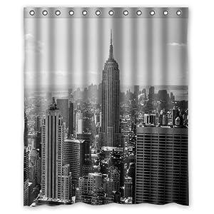 Custom New York City Skyline Shower Curtain 60 X 72 Bathroom Decor Fabric