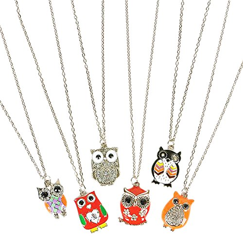 "16"" Owl Necklace Assortment (6 Per Order)"