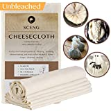SCENG G90-2SQ Grade 90, 18 sq Feet, Reusable, 100% Unbleached Cotton Fabric, Ultra Fine Cheesecloth for Cooking-Nut Milk Bag, Strainer Filter, G90-2-Yards, Beige