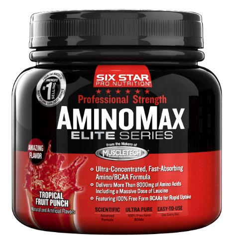 Six Star Pro Nutrition PS Amino Max, Tropical Fruit Punch, 9.63 Ounce