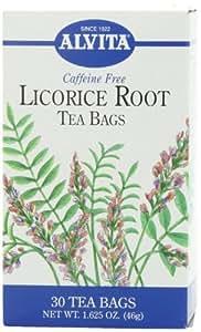 Alvita Tea Bags, Licorice Root, Caffeine Free, 24 tea bags (1.41 oz) 46 g (Pack of 3)