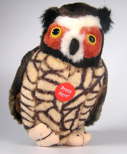 Great Horned Owl - Audubon Plush Bird (Authentic Bird Sound)