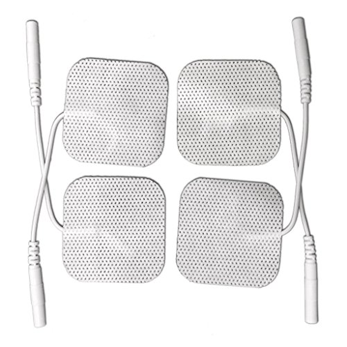 5 Packs (20 Pcs) Healthmateforever Pin Inserted Massage Pads Patches, Square Electrode Replacement Pads, Electronic Pulse Massager Massage Pads. Medic Non Allergenic Non Woven Fabric Pads, Electrode Pads Pin Inserted Pads, One Size Fit All Of Pin Inserted
