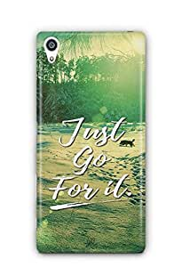 YuBingo Just Go For It Designer Mobile Case Back Cover for Sony Xperia Z5 Plus