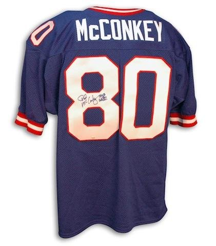 Phil McConkey Autographed Jersey - Blue Throwback - Autographed NFL Jerseys at Amazon.com