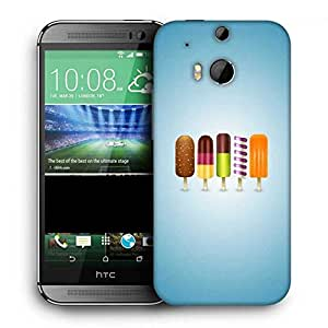 Snoogg Icecreams Printed Protective Phone Back Case Cover For HTC One M8