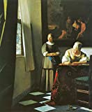 The Museum Outlet - Woman with messenger by Vermeer - Canvas Print Online Buy (24 X 32 Inch)