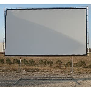 Carl's Freestanding DIY Projector Screen Kit, 9x16, FlexiWhite Finished Edge Fabric & Components