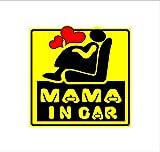 MAMA IN CAR 黄 カッティングステッカー ウォールステッカー ステッカー シール