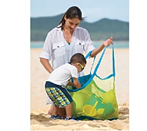 Kelitch Sand Away Carry All Beach Mesh Bag Tote (Swim, Toys, Boating. Etc.)-xl Size