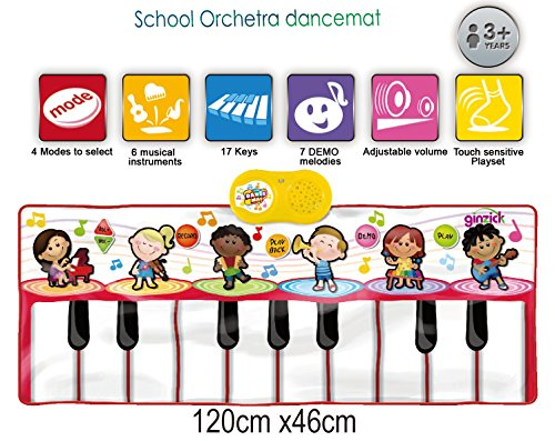 Ginzick Kids School Orchestra Music Piano Fun Dance Mat