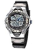 Uniqu HighQuality Pasnew Etanche Dual Time Garçons Filles Sport Watch Montres N1