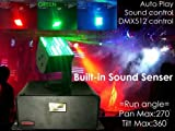 LEDムービングライト 舞台照明 サウンドセンサー内蔵 DMX512対応 LED MOVING LIGHIT