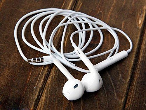 Earphone Earpods Handsfree Md827Ll/A Mic 3.5Mm White X Apple Iphone 4 5C 5S Ipod