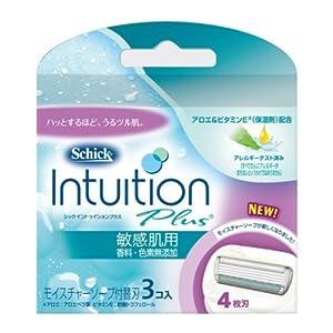 シック イントゥイション 替刃 (3コ入)敏感肌用 香料 色素無添加ソープ